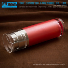 YB-WA120 120ml (60 ml x 2) buena calidad gran capacidad botella grande acrílico cosméticos doble tubo día y noche para bomba de loción