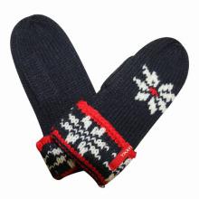 Manoplas calientes hechas punto acrílico del invierno de la moda de las mujeres (YKY5429)