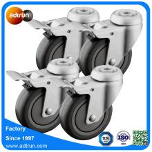 Medicinskt hjulhjul med bromsuppsättning