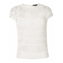 Women Summer White Crochet Tank Top