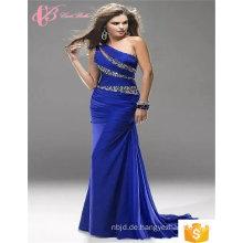 Suzhou Frauen lila gelb rot blau sexy eine Schulter plus Größe Meerjungfrau Abendkleid Kristall