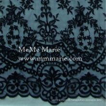 Black Tulle Lace Fabric Embroidery Lace Fabric Hem Lace for Curtain 52'' No.CA426