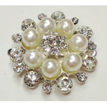 2013 Ladies Fashionable Rhinestone Shoe Clips With Clear Rhinestone and Pearl for Women Shoes