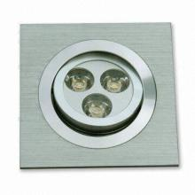 3W LED retangular Recessed Lights-3X1W