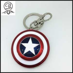 Super Hero Captain America Shield keychains