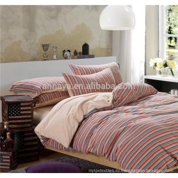 100% хлопок Трикотажные трикотажные комплекты постельного белья и наборы цветных с подогнанным листом