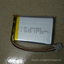 3.7V 1200mAh Rechargeable 603450 Bateria Li-Polymer Bateria de íon de lítio