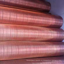 Malla de alambre de cobre del filtro de cobre