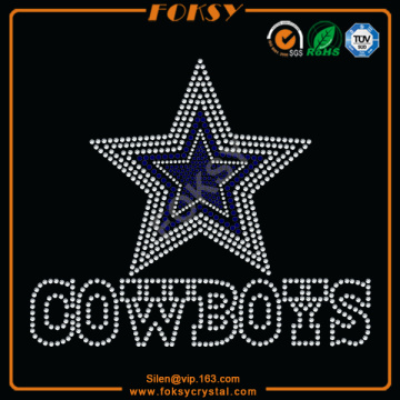 Reasonable price for Nfl Teams Rhinestone Transfer Cowboy rhinestone heat transfers wholesale export to San Marino Factories