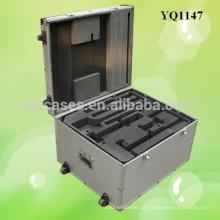 estojo protetor de alumínio forte equipamento com 2 rodas do fabricante de China