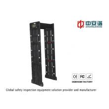 Détecteur de métaux imperméable à la porte à haute sensibilité à zone multiple haute température pour aéroport / banque