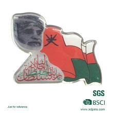 Badge de drapeau national arabe personnalisé en métal pour souvenir