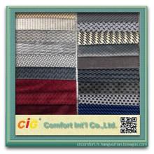 Nouveau tissu de tapisserie d'ameublement de Seat de voiture de Jacquard de chaîne de polyester de 100%