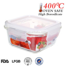 small glass box borosilicate glass bento box