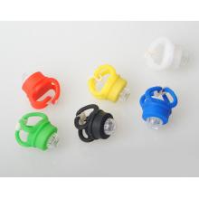 Велосипед Светодиодная передняя задняя вспышка Предупреждение 6 цветов лампа лягушки