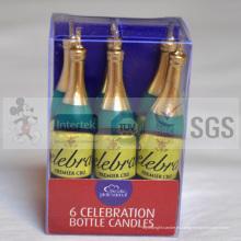 Venta de velas de arte de botellas de vino