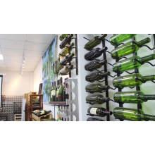 Customized solid wood wine rack household wine display rack European-style landing wood wine rack