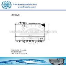 RADIATOR 1640042210 pour TOYOTA 89-92 CRESSIDA Fabricant et vente directe!