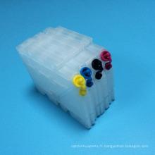 80ml / 50ml 4Colors rechargeables pour la cartouche d'encre de Ricoh GC41 GC 41 pour l'encre de transfert de chaleur de Ricoh Aficio SG 3110DN