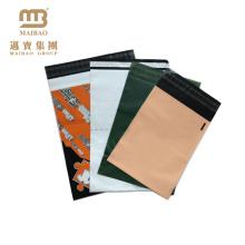 Manipulationssicheres Großhandelslogo gedrucktes Polygrau / Schwarz-Plastikkundenspezifische Versandtaschen