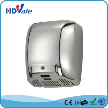 1.5mm Thickness Stainless Steel Cover High Speed Fast Drying Hand Dryer for washroom