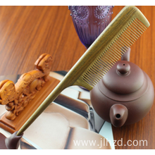 Green Sandalwood  Anti-static wood handle tail comb