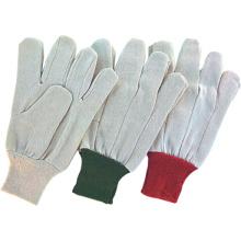 Gant de travail de coton de foret de poignet de tricot de polyester