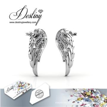 Destino joyas cristales de alas de Angel Swarovski pendientes