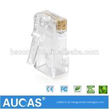 Personalizado 8P8C cat7 rj45 conector com tampa de proteção do cabo