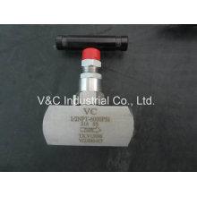 1-2 '' 6000psi Soupape à aiguille à fil haute pression en acier inoxydable