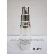 15ml Borrar la botella de la bomba airless de encargo de lujo plástica que empaqueta en pequeñas cantidades