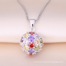 2018 classical Flower Ball Pendant From Zhefan Jewelry