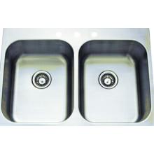 Нержавеющая сталь ручной раковины двойной мойки Bowl (KTD3322E)