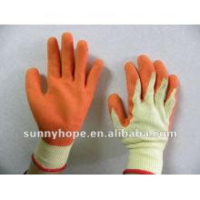 Gant revêtu de latex orange pour les ouvriers du bâtiment