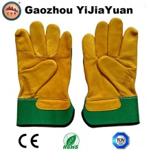 Guantes de trabajo de cuero industrial de trabajo de mano para la venta al por mayor