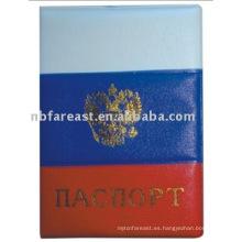 Portador multicolor delicado del pasaporte de la PU y del pvc de la venta caliente