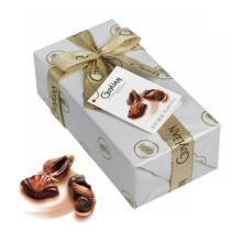 Caja de chocolate de calidad alimentaria con tarjeta de felicitación