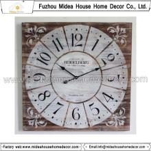 Distressed Square Wall Design Relógio de parede