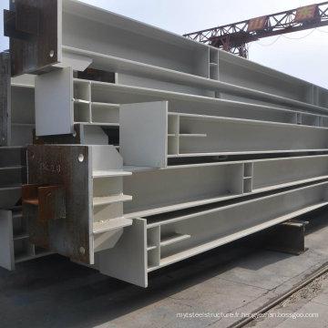 H Coupe en acier et colonnes pour bâtiments en acier (WZ-004)