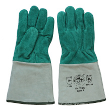 Ab Grade Cowhide Split Leather Protective Welder′s Gloves