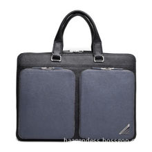 2014 Latest Fashion Laptop Genuine Leather Briefcase for Men, Sized 395*290*60mm