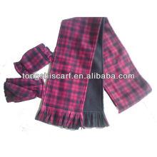 PT006 benutzerdefinierte billig polar Fleece Fransen Schal