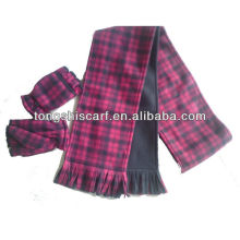PT006 custom cheap polar fleece fringe scarf