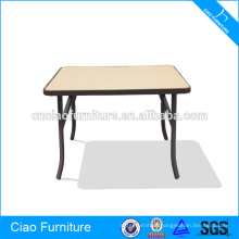Outdoor Acrylic Board Dining Square Table