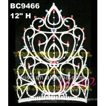 beautiful rhinestone pageant crown tiara