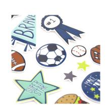 etiqueta eco-amigável do pvc do estudante etiqueta cortada etiquetas inchado feitas sob encomenda dos desenhos animados