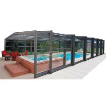 Cobertura de piscina de grama artificial acima do solo