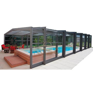 Couverture de piscine hors-sol en gazon artificiel