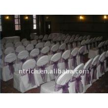 Couverture de chaise de banquet standard, CT025 polyester matière, durable et facile lavable