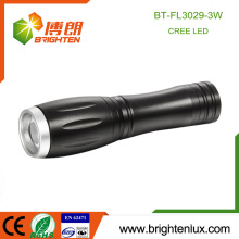 Factory Wholesale High Quality 1*AA or 14500 Battery Operated Aluminum Small Pocket 3watt Cree led Dimming Flashlight